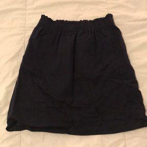 JCrew navy skirt
